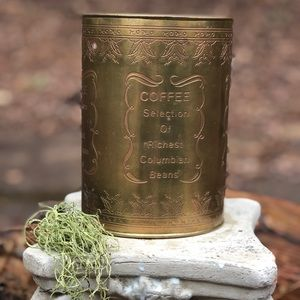 Vintage Brass / Copper Coffee Can